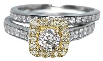 Jewelry Unlimited Canary,Diamond,Engagement,Wedding,Band,Ring,Set,In,14k,White,Gold,With,1.03,Ct