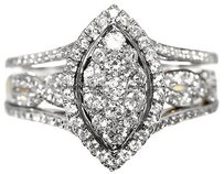 Jewelry Unlimited 10k,Gold,Ladies,Two,Tone,Twisted,Band,Diamond,Engagement,Wedding,Ring,Set,1.0,Ct