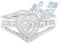 Jewelry Unlimited 14k,White,Gold,Round,Cut,Engagement,Bridal,Heart,Love,Diamond,Ring,0.51,Ct