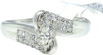 Jewelry Unlimited 14k,White,Gold,Marquise,Cut,Engagement,Bridal,Solitaire,Band,Diamond,Ring,0.27