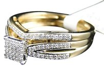 Jewelry Unlimited 10k,Yellow,Gold,Round,Cut,Engagement,Bridal,Wedding,Diamond,Ring,Set,0.25,Ct