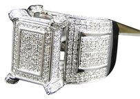 Jewelry Unlimited Ladies,10k,White,Gold,Round,Cut,Pave,Diamond,Xl,Fashion,Engagement,Ring,2.5,Ct