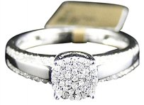 Jewelry Unlimited 10k,Whtie,Gold,Round,Cut,Pave,Diamond,Engagement,Bridal,Wedding,Ring,14,Ct
