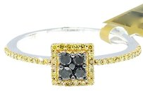 Jewelry Unlimited Ladies,10k,White,Gold,Round,Cut,Black,Diamond,Square,Engagement,Fashion,Ring