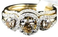 Jewelry Unlimited 14k,Yellow,Gold,Ladies,Brown,Engagement,Diamond,Wedding,Bridal,Ring,1.01,Ct