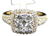 Jewelry Unlimited 14k,Womens,Yellow,Gold,Cluster,Round,Diamond,Engagement,Fashion,Ring,1.50,Ct