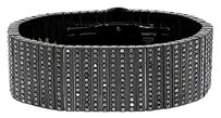 Jewelry Unlimited ,Mens,316,Stainless,Steel,Pvd,Finish,Black,Diamond,Solid,24mm,Bracelet,32,Ct