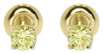 Jewelry Unlimited 14k,Yellow,Gold,Round,Soliatire,Canary,Diamond,Solitaire,Earrings,Studs,0.80,Ct