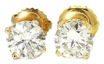 Jewelry Unlimited Mens,Ladies,14k,Yellow,Gold,Round,Cut,5,Mm,Solitaire,Diamond,Stud,Earrings,1,Ct