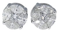 Jewelry Unlimited Mens,Ladies,14k,White,Gold,Solitaire,Look,Diamond,9,Mm,Stud,Earrings,2.25,Ct