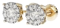 Jewelry Unlimited Round,Cut,Solitaire,Cluster,8mm,Diamond,Stud,Earrings,In,14k,Gold,1.0ct
