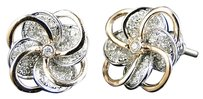 Jewelry Unlimited Ladies,Real,White,And,Rose,Gold,Diamond,Flower,Stud,Earrings,13,Mm,.75,Ct