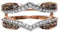 Jewelry Unlimited 10k,Rose,Gold,Ladies,Brownwhite,Diamond,Enhancer,Jacket,For,Engagement,Ring