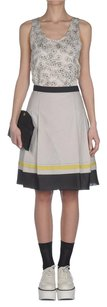 Jil Sander Navy Black Yellow Pleated Stripe Parachute Dress 342s Skirt Gray