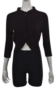 Jil Sander Womens Burgundy Cardigan 34 Sleeve Shirt Sweater