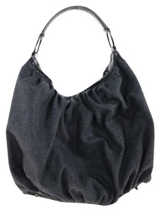 Jill Stuart Womens Felt Handbag Hobo Bag