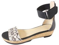 Jimmy Choo Ankle Strap Black / White Sandals