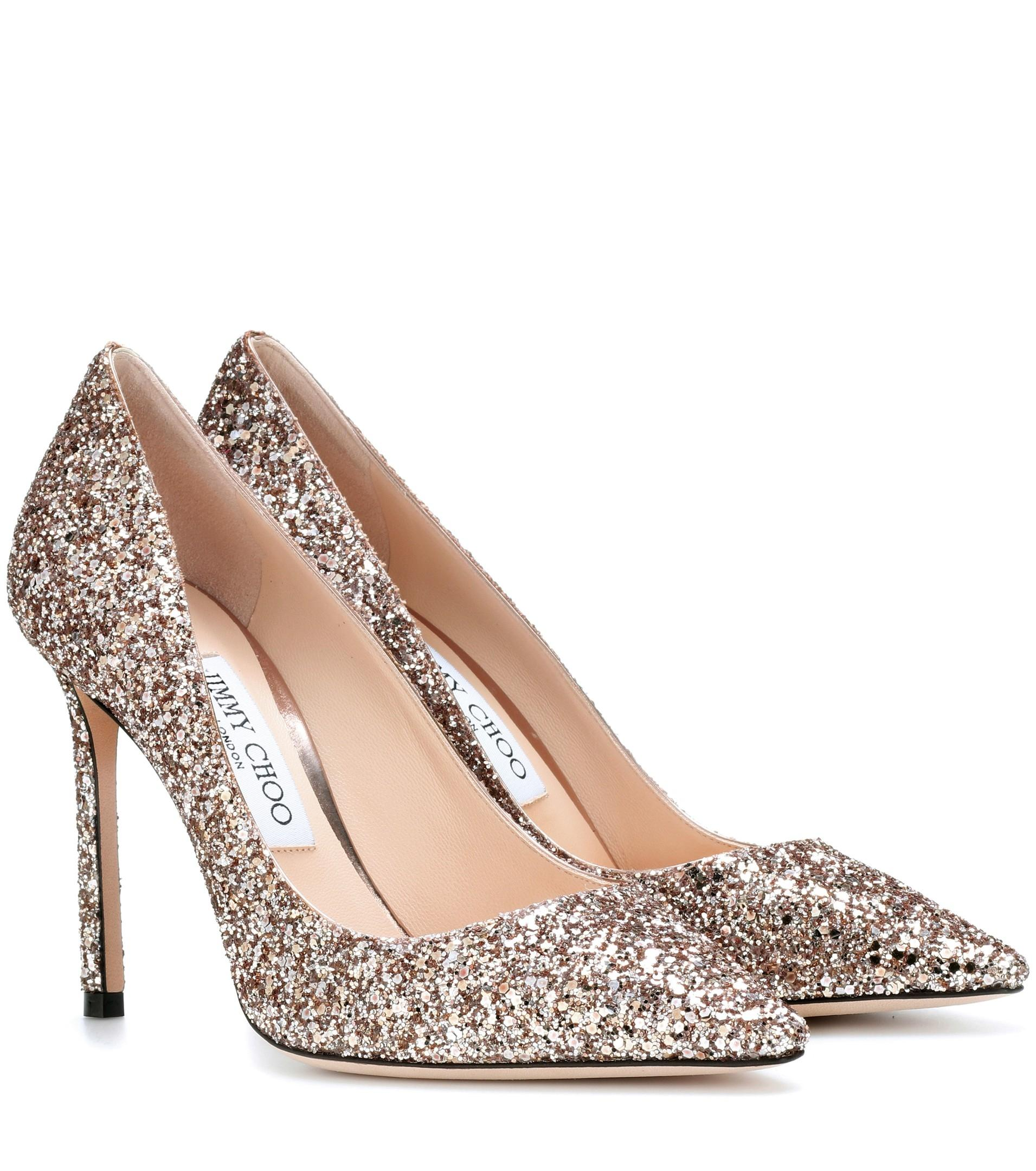 Jimmy Choo Ballet Pink Gold New Romy 100 Nude Patent 6.5 Pumps Size EU 37 (Approx. US 7) Regular (M, B)