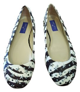 Jimmy Choo Black & White Flats