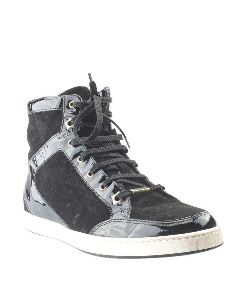 cebd83f41e98 order jimmy choo sneakers suedexpatent leather black athletic 0ad5a cad77