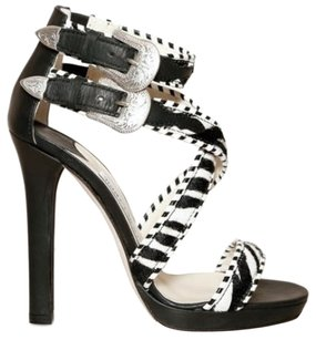 Jimmy Choo blk zebra Sandals