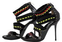Jimmy Choo blk/neon Sandals