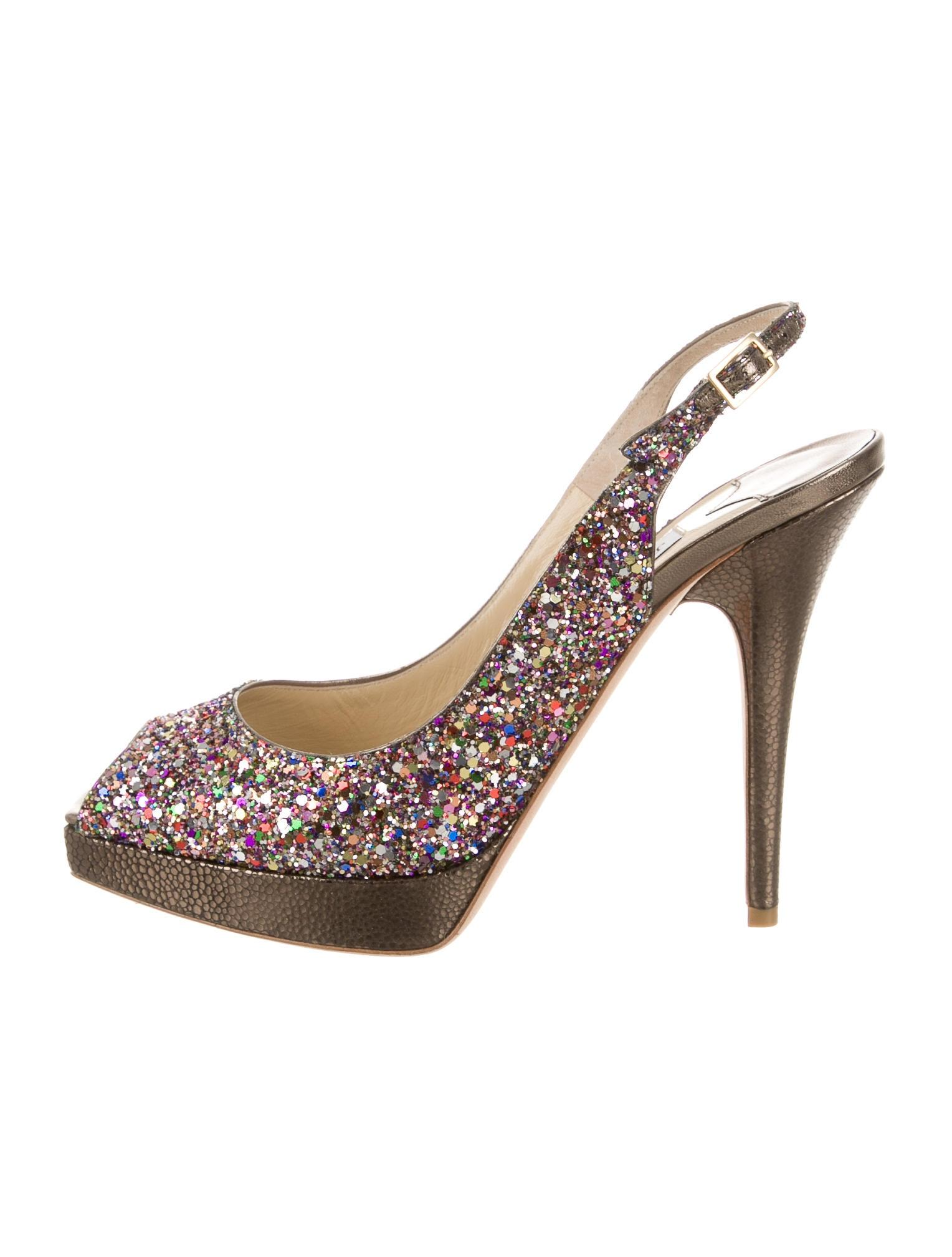 Jimmy Choo Clue Glitter Multicolor Pumps