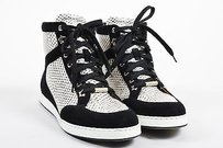 Jimmy Choo Black Suede White Athletic