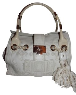 Jimmy Choo Leather Tote in off white