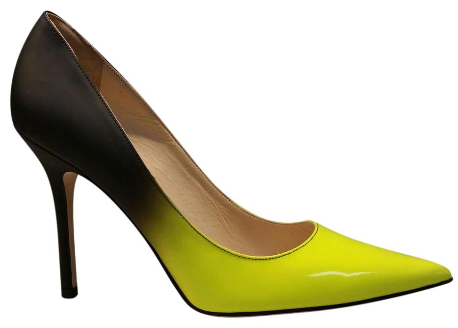 36a59561d257 ... cheap jimmy choo neon yellow black degrade pumps 063b4 b2c08