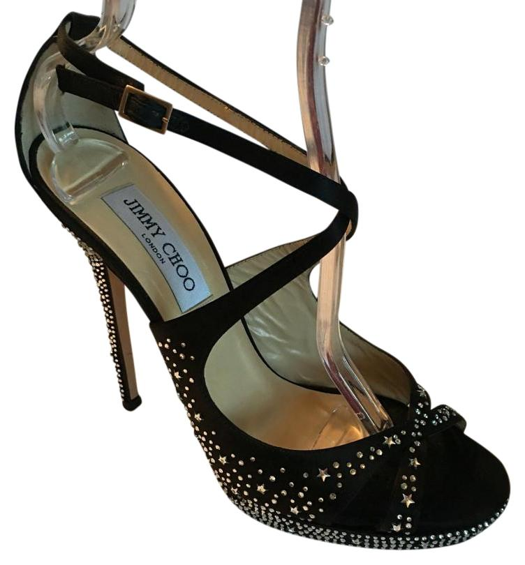 free shipping best store to get Jimmy Choo Jewel-Embellished Satin Sandals cheap sale amazon big discount cheap price clearance prices discount pre order 5UF6CG