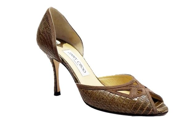 Jimmy Choo Embossed Leather D'Orsay Pumps visit for sale 6VHH3o