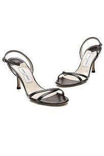 Jimmy Choo Leather Black Sandals