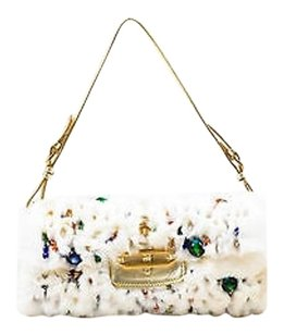 Jimmy Choo Rabbit Fur Shoulder Bag
