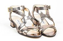Jimmy Choo Light Bronze Shiny Brown Sandals