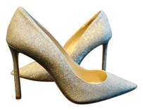Jimmy Choo Wedding Wedding Glitter Party Elegant Platinum Ice/ Silver Pumps