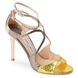 Jimmy Choo YELLOW PEWTER GOLD Formal