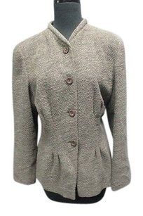 Joan & David Womens Textured Green Jacket