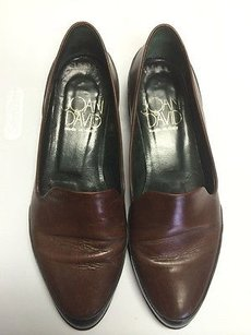 Joan & David Leather Slip Brown Flats