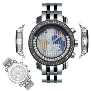 Joe Rodeo Mens Diamond Watch Joe Rodeo Classic Jcl40w 1.75 Ct World Map Dial