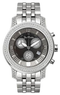 Joe Rodeo Mens Diamond Watch Joe Rodeo J2028 1.5 Ct Illusion Black Dial