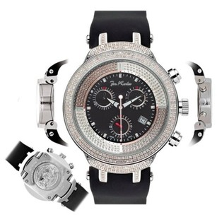 Joe Rodeo Mens Diamond Watch Joe Rodeo Master Jjm3 2.2 Ct Illusion Black Chronograph Dial