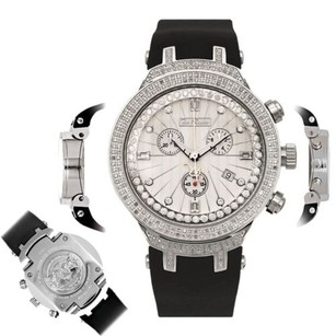 Joe Rodeo Mens Diamond Watch Joe Rodeo Master Jjm86 2.20 Ct Chronograph White Dial