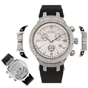 Joe Rodeo Mens Diamond Watch Joe Rodeo Master Jjm95 2.20 Ct Chronograph White Dial
