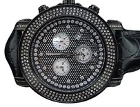 Joe Rodeo Mens Joe Rodeo Black Gun-metal Ctw Diamond Watch