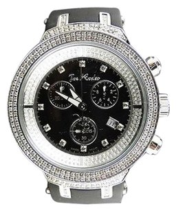 Joe Rodeo Mens Joe Rodeojojo Black Face Master 242 Diamond Watch 2.2 Ct Jjm28