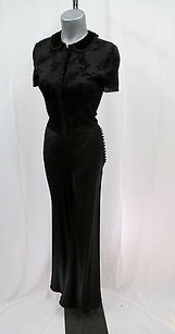John Galliano Satin Wide Leg With Covered Down The Side Pants
