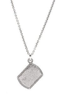 John Hardy John Hardy Sterling Silver Classic Chain Meteorite Dog Tag Necklace