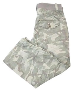Joie Camouflage Flat Zip Front Drawstring Cropped 5177a Capri/Cropped Pants greens