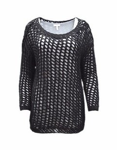 Joie Open Weave Layered Prima Attached 160311 Sweater